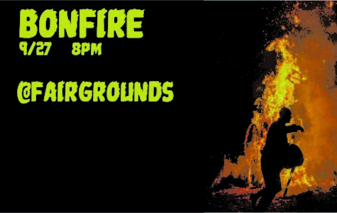 Homecoming Bonfire, Wednesday the 27th at 8:00