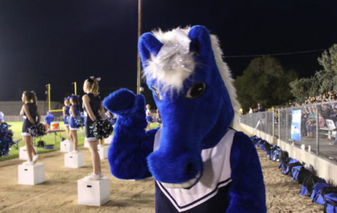 Bernice the Bronco waves to her fans