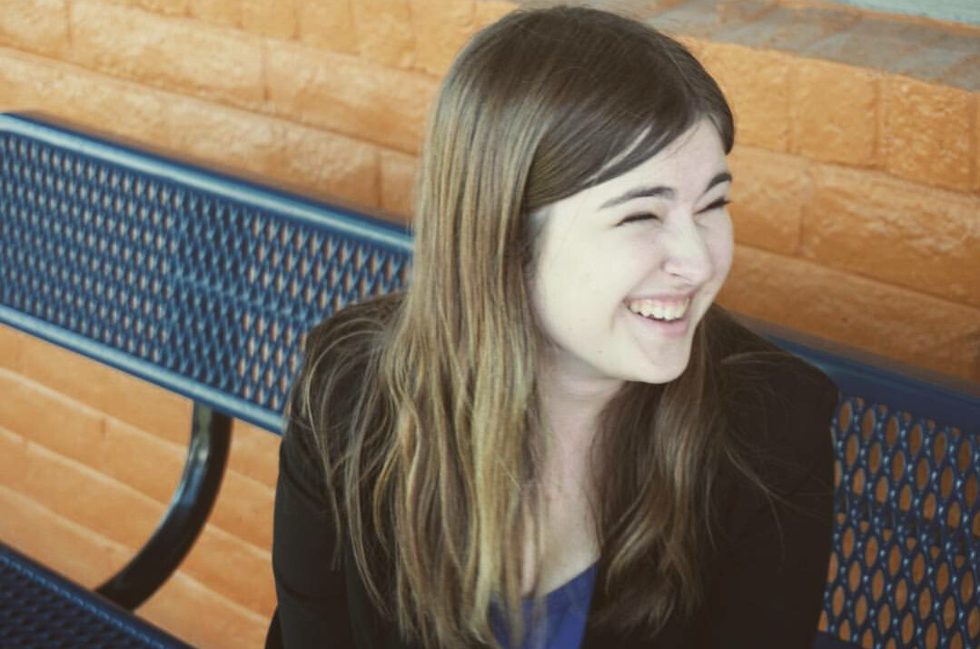 Amy Gaudet smiles during National Qualifiers for Speech and Debate in Phoeniz, AZ. Photography taken by Scott Capin