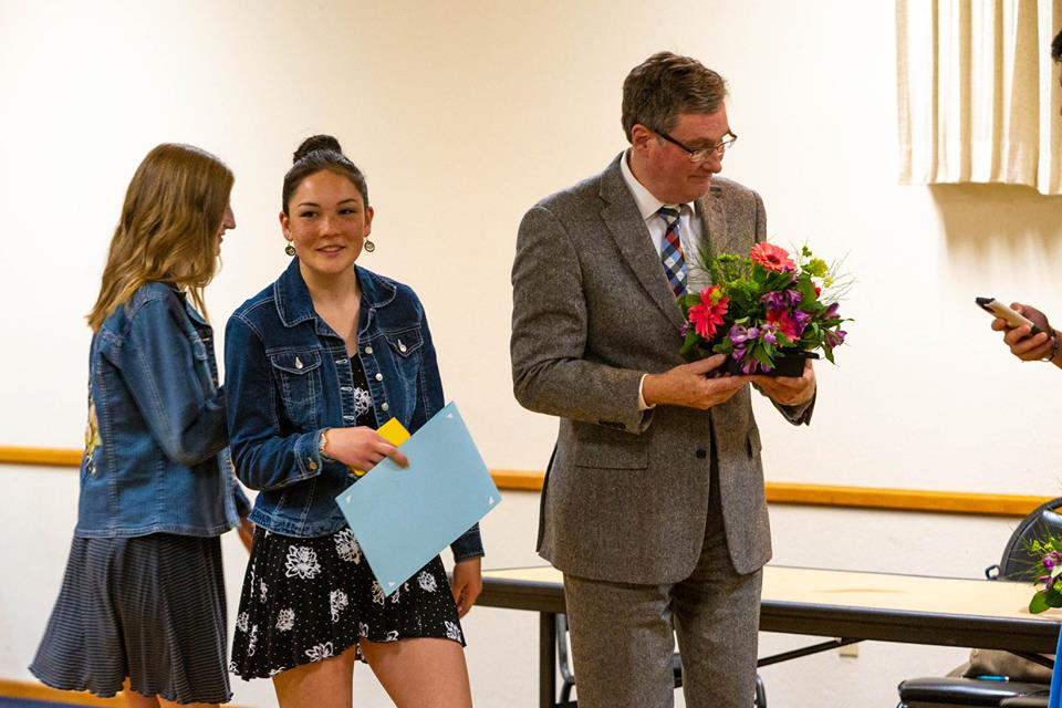 Academic Achievements all around!: Kristen Lamb at the Top 10 Dinner this week. Photo by Joe Griego