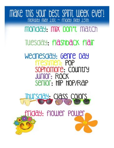School Spirit Week!