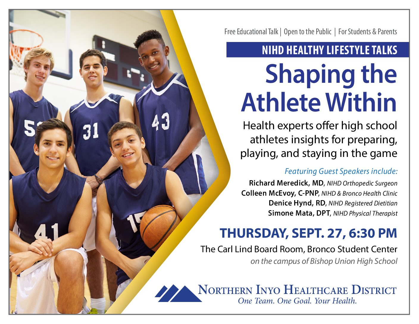 "NIHD's ""Shaping the Athlete Within"" Presentation"