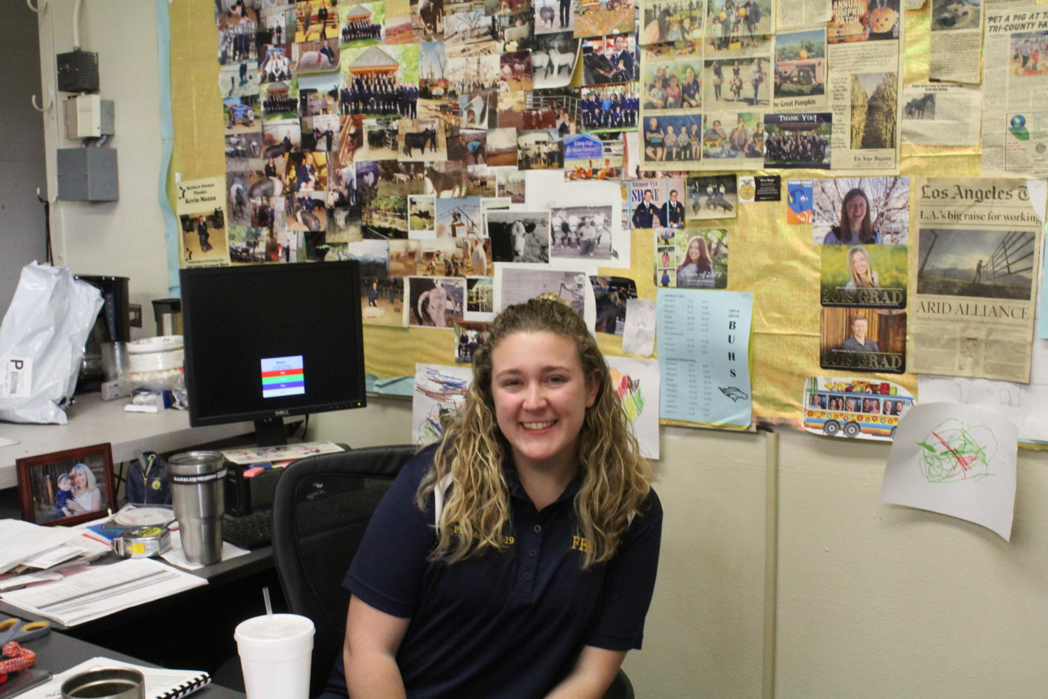 Mckenzie Riggs, the Vice President of the Bishop FFA