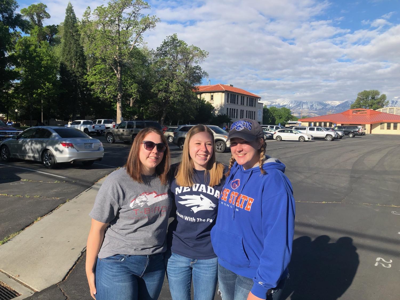 Shelby Hay: southern Utah University , Callie Jepson: University of Nevada Reno, McKenzie Riggs: Boise state