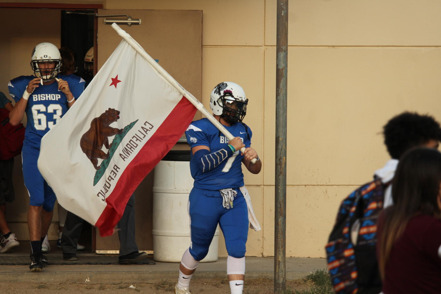 Wes Petit Carrying the California Republic FLag