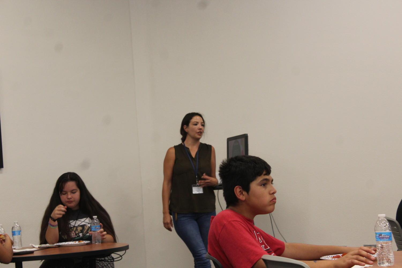 Daya+Sepsey+giving+NASA+kids+a+presentation+about+herself