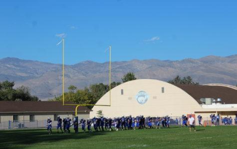 BUHS JV Football, warming up