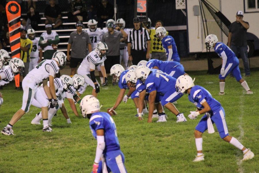 Varsity+football+O-line