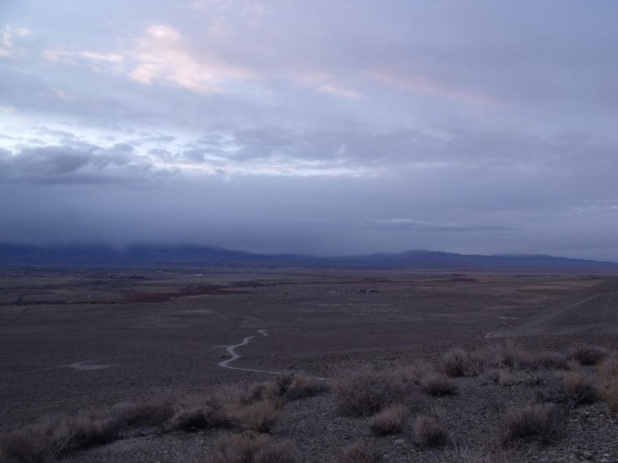 Looking northwest from the foothills east of Poleta Road late 1/23/2021.