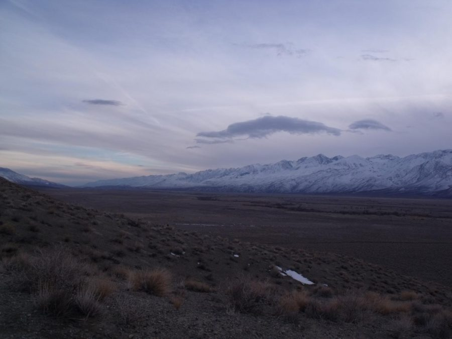 Looking south towards Big Pine from the foothills east of Poleta Road late 1/31/2021.