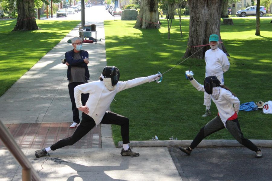 Mrs.Thompsons  English Class Host Fencing Demonstration