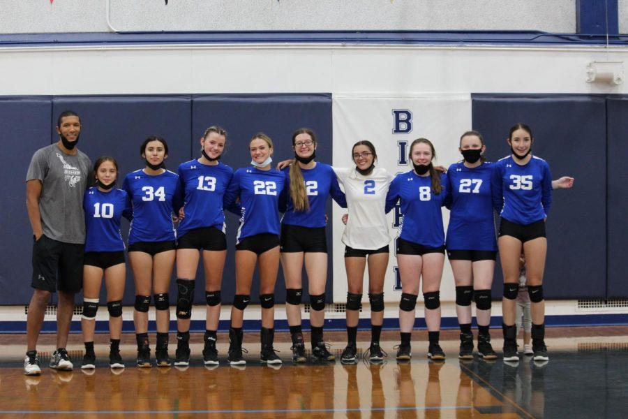 From Left, Coach Blocker, Jaden Davis, Idalia Jimenez, Mary Suver, Morgan Dondero, Lndsey Rowan, Sara Rosga, Zoe Dailey, Cora Van Nest, Haven del Giudice.